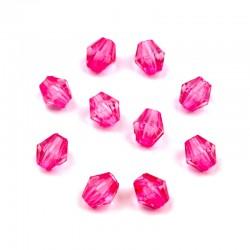 Korálky broušené plast 4mm 200ks růžová