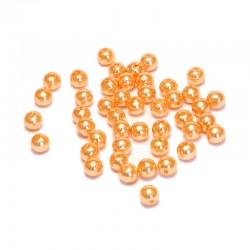 Voskované perličky plast 5mm 100ks červená