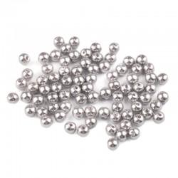 Voskované perličky plast 5mm 100ks šedá