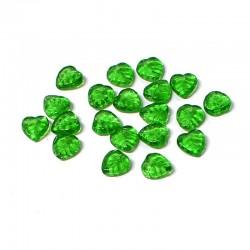 Lístečky skleněné 9x9mm 20ks zelená