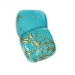 Korálky plastové 17x17mm 5ks modro-zlatá
