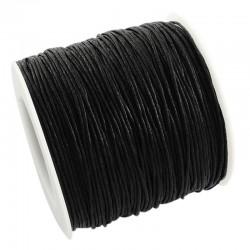Povoskovaná šňůrka 1mm 5m černá
