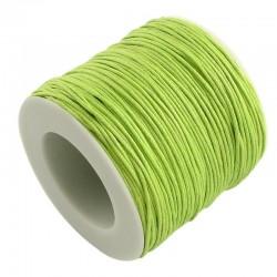 Povoskovaná šňůrka 1mm 5m zelená jarní
