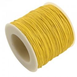 Povoskovaná šňůrka 1mm 1m žlutá