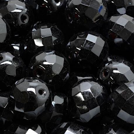 Ohňovky broušené 12mm 4ks černá