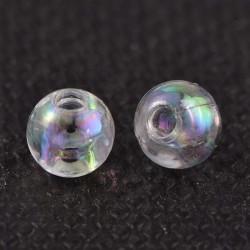 Akrylové korálky 4mm 100ks průhledná s AB