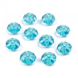 Korálky broušené plast 5x8mm 20ks modrá