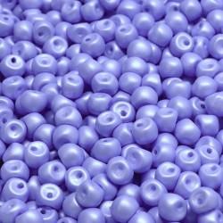 Korálky skl. houbičky 4x3mm 50ks modrá chrpová
