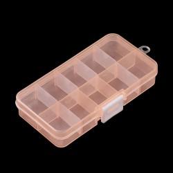 Box na korálky 145x70x22mm meruňková