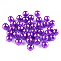 Voskované perličky plast 8mm 20ks fuchsiová
