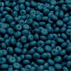 Korálky skl. rondelky 2,5x4mm 80ks modrá, temná