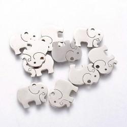 Přívěšek nerez.ocel 304 slon 10,7x13,9x1mm 1ks