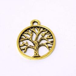 Přívěšek strom života 19,3x23,4mm 1ks starozlato
