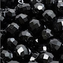 Ohňovky broušené 10mm 8ks černá