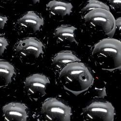Voskované perle 12mm 10ks černá