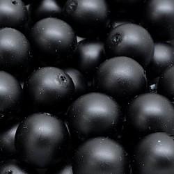 Voskované perle 12mm 10ks černá, matná