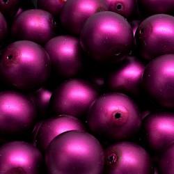 Voskované perle 12mm 10ks purpurová, matná