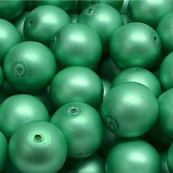 Voskované perle 12mm 10ks zelená, matná