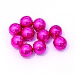 Voskované perle 12mm 10ks fuchsiová