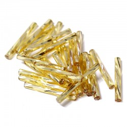 Sekaný rokajl 25mm 50ks zlatá světlá