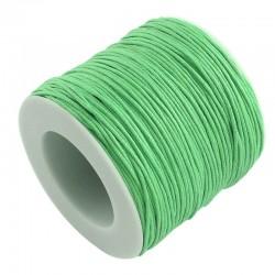Povoskovaná šňůrka 1mm 5m zelená světlá
