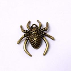 Přívěšek pavouk 25x30mm 11ks staromosaz