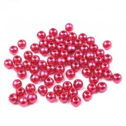 Voskované perličky plast 4mm 100ks cyklámenová