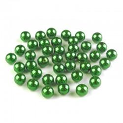 Voskované perličky plast 8mm 20ks zelená