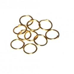 Spojovací kroužek 6mm 10ks zlatá