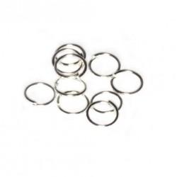 Spojovací kroužek 6mm 50ks stříbrná