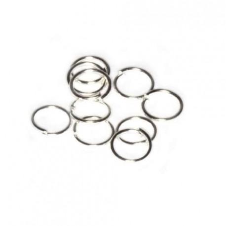 Spojovací kroužek 7mm 10ks stříbrná