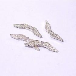 Andělská křídla 32x6mm 4ks stříbrná