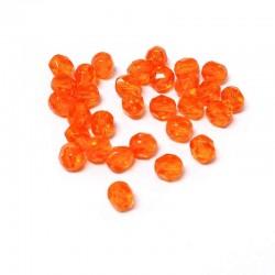 Ohňovky broušené 6mm 30ks oranžová, průhledná