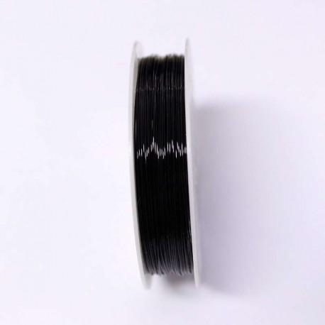 Měděný drátek 0,4mm 16m černá
