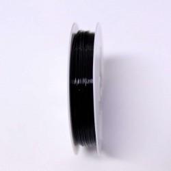 Měděný drátek 0,6mm 7m černá
