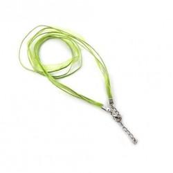 Šňůrka se stužkou 49cm zelená