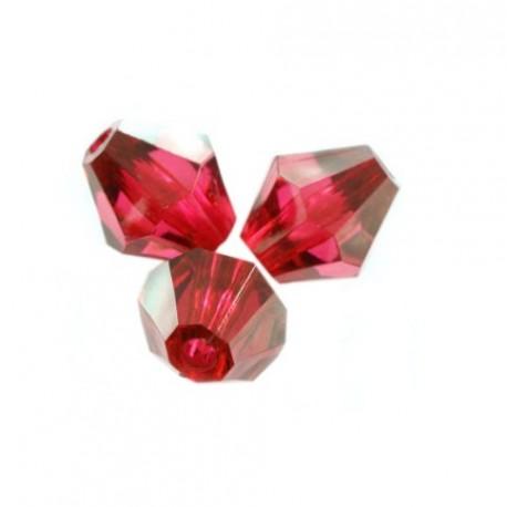 Korálky broušené plast 6mm 400ks vínová