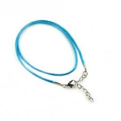 Povoskovaná šňůrka 48cm modrá