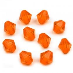 Korálky broušené plast 6mm 400ks oranžová