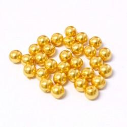 Voskované perle 6mm 30ks zlatá