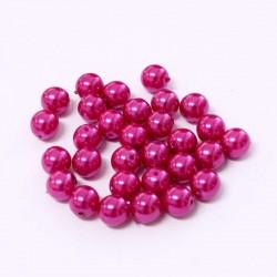 Voskované perle 6mm 30ks fuchsiová