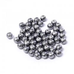 Voskované perle 4mm 50ks šedá