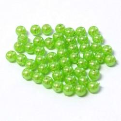 Voskované perle 4mm 50ks zelená světlá