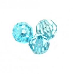 Korálky broušené plast 6mm 350ks modrá světlá
