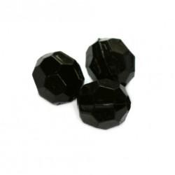 Korálky broušené plast 6mm 350ks černá