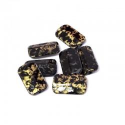 Korálky plast mramorované 18x11mm 10ks černá