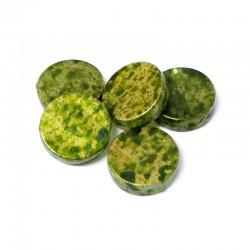 Korálky plast mramorované 18mm 5ks zelená