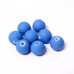 Korálky plastové 12mm 10ks modrá matná