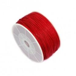 Povoskovaná šňůrka 1mm 1m červená
