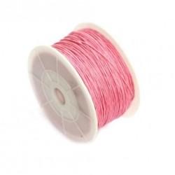 Povoskovaná šňůrka 1mm 1m růžová